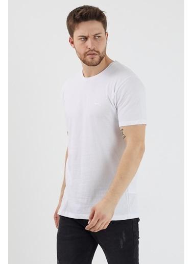 Slazenger Slazenger SANDER Erkek T-Shirt  Beyaz